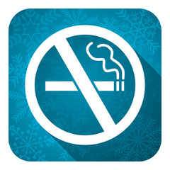 no smoking flat icon, christmas button