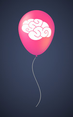 Vector balloon icon with a brain