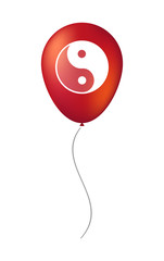 Vector balloon icon with a ying yang