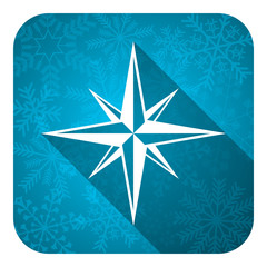 compass flat icon, christmas button