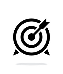 Target with arrow icon on white background.