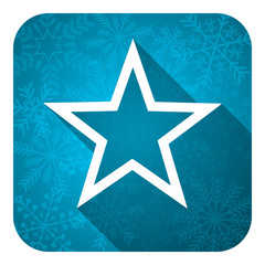 star flat icon, christmas button