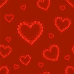 heart. seamless pattern. vector