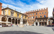 Piazza dei Signori with statue of Dante in Verona. Italy - 74394425