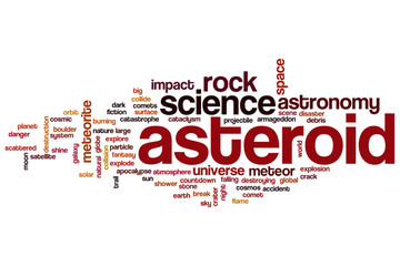 Asteroid word cloud
