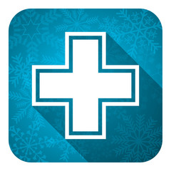 pharmacy flat icon, christmas button