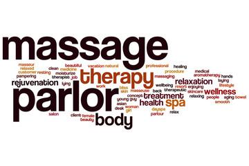 Massage parlor word cloud