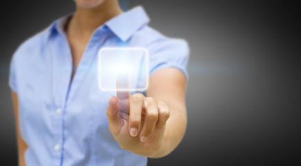 Businesswoman solution concept