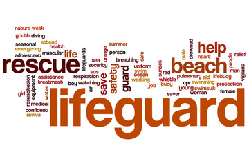 Life guard word cloud