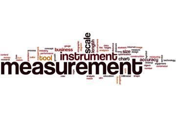 Measurement word cloud