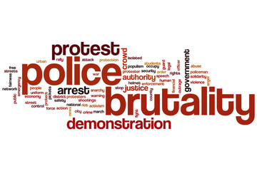 Police brutality word cloud