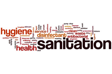 Sanitation word cloud