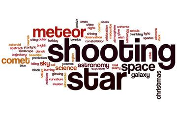 Shooting star word cloud