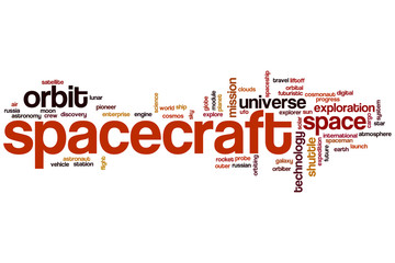 Spacecraft word cloud
