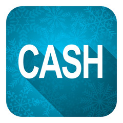cash flat icon, christmas button