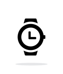 Wristwatch icon on white background.