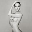 Leinwanddruck Bild - Elegant naked lady