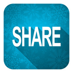 share flat icon, christmas button