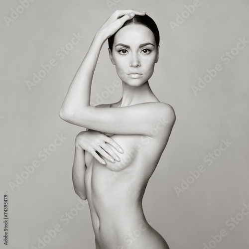 Foto op Canvas Akt Elegant naked lady