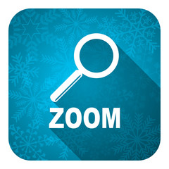 zoom flat icon, christmas button