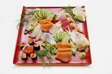 Fischplatte mit Lachs & Gemüse