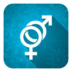 sex flat icon, christmas button, gender sign