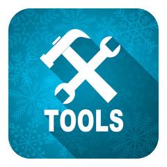 tools flat icon, christmas button