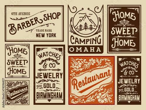 stare-projekty-reklam-vintage-ilustracji