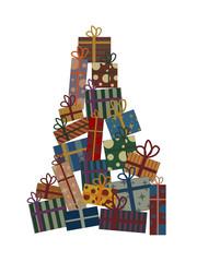 christmas presents boxes tree