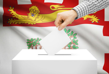 Ballot box with national flag - Prince Edward Island