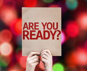 Are You Ready? card with colorful background