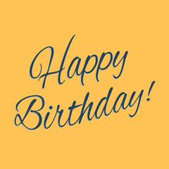 """Happy Birthday"" greeting"