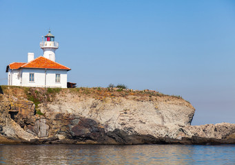 White lighthouse on St. Anastasia Island