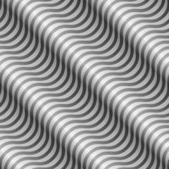 Seamless black and white diagonal wavy stripes