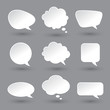 White speech bubbles set - 74399438