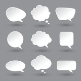 Photo: White speech bubbles set