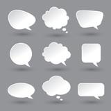 White speech bubbles set - 74399438