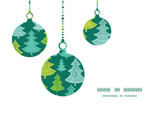 Vector holiday christmas trees Christmas ornaments silhouettes