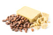 Kakaobohnen und Kakaobutter - 74400249