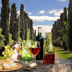 Weinverkostung in der Toskana