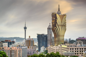 Macau, China Casino Resorts Cityscape
