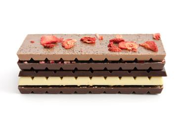 Verschiedene Schokoladentafeln