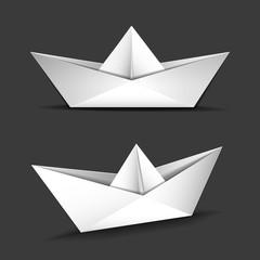 papier schiffe, vektor eps vorlage, isoliert