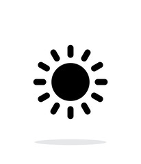Sun weather icon on white background.