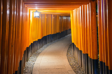 Fushimi Inari Shrine Tori Gates of Kyoto, Japan