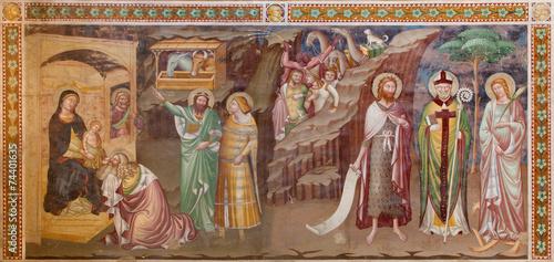 Treviso - Fresco of Adoration of Magi in saint Nicholas church - 74401635