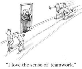 """I love the sense of teamwork."""
