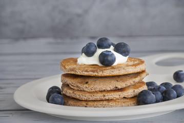 Pancakes met bosbessen