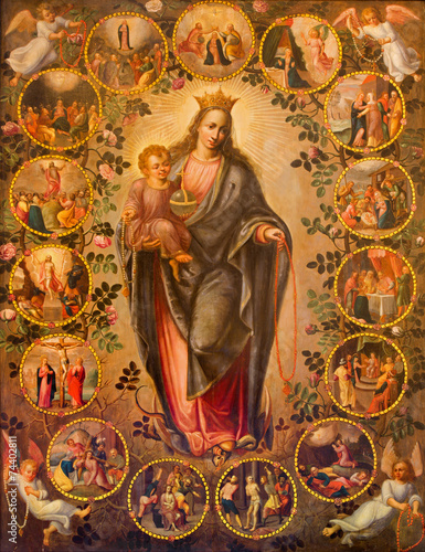 Antwerp - Madonna of rosary. Paint in  St. Pauls church - 74402811