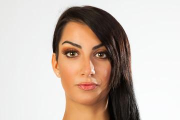 Young brunette portrait